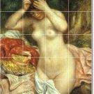 Renoir Nudes Mural Tile Kitchen Backsplash Design Modern Floor