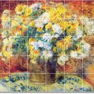 Renoir Flowers Dining Room Tile Mural Decorating Ideas Interior