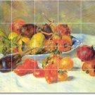 Renoir Fruit Vegetables Tile Shower Home Remodeling Contemporary