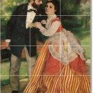 Renoir Men Women Living Tile Mural Room Ideas Interior Remodel