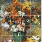 Renoir Flowers Mural Shower Tile Bathroom Home Renovations Idea