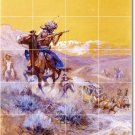 Russell Western Room Dining Mural Floor Decorating Idea House