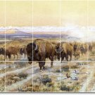 Russell Animals Tile Mural Backsplash Construction Commercial