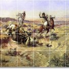 Russell Western Shower Tile Mural Ideas Construction Interior