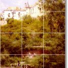 Sanchez-Perrier Landscapes Mural Bathroom Tile Home Remodel