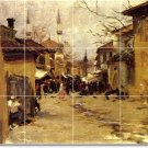 Sargent City Murals Room Tile Wall Renovate Contemporary House