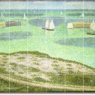 Seurat Waterfront Mural Floor Kitchen House Remodeling Decorate