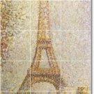 Seurat City Mural Kitchen Backsplash Tile Renovations Design Home