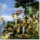 Titian Mythology Floor Mural Room Tiles Remodeling Design Home