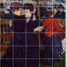 Toulouse-Lautrec Dancers Tile Room Renovate Ideas House