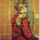 Toulouse-Lautrec Women Mural Tiles Room Dining Home Modern Decor