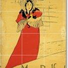 Toulouse-Lautrec Poster Art Room Tile Idea House Remodeling