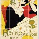 Toulouse-Lautrec Poster Art Tiles Kitchen Mural Commercial