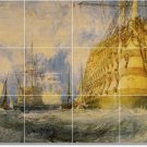 Turner Ships Wall Mural Tiles Room Living Renovate Modern Home
