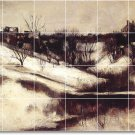 Twachtman Country Tiles Mural Living Room Interior Renovate Ideas