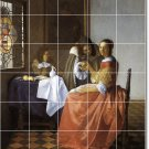 Vermeer Men Women Tile Mural Room Remodeling Interior Idea Design