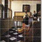 Vermeer Women Dining Mural Room Wall Tile Modern Remodel House