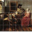 Vermeer Men Women Mural Room Tile Remodeling Design Interior Idea