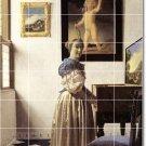 Vermeer Women Wall Mural Room Tile Dining Remodel Modern Floor