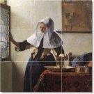 Vermeer Women Shower Bathroom Mural Wall Tiles Interior Design