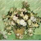 Van Gogh Flowers Dining Room Wall Tiles Mural Interior Remodel