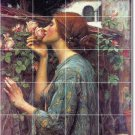 Waterhouse Women Tile Wall Room Mural Dining Decor Floor Decor
