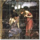 Waterhouse Mythology Dining Mural Room Tiles Remodel House Decor
