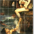 Waterhouse Mythology Mural Room Tile Interior Ideas Construction