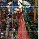 Waterhouse Mythology Mural Tile Room Construction Interior Ideas