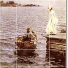 Zorn Waterfront Floor Dining Room Mural Modern Renovations Home