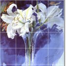 Zorn Flowers Tiles Wall Room Mural Mural House Idea Decorating