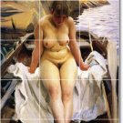 Zorn Nudes Dining Room Tile Mural Ideas House Decor Renovations