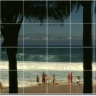 Beach Photo Tile Room Wall Murals Renovate Contemporary Interior