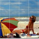 Beach Photo Backsplash Wall Kitchen Mural Tile House Decor Decor