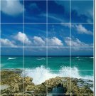 Beach Image Backsplash Wall Mural Kitchen Tile Decor Decor House