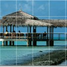Beach Photo Tile Wall Kitchen Backsplash Mural Home Design Decor