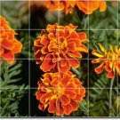 Flowers Image Tile Wall Shower Mural Traditional Home Renovate