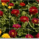 Flowers Picture Tile Murals Kitchen Traditional Renovation Home
