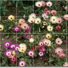 Flowers Picture Room Wall Tile Idea Design Interior Renovations