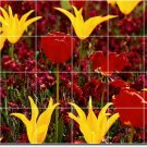 Flowers Photo Murals Shower Wall Wall Home Modern Construction