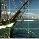 Ships Boats Picture Dining Murals Room Wall Tile Art Commercial