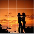 Sunsets Photo Murals Backsplash Tile Wall Ideas House Renovate