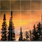 Sunsets Picture Murals Shower Bathroom Wall Remodel Traditional