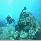 Underwater Picture Tile Dining Mural Room Ideas Home Remodeling