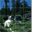 Waterfalls Image Mural Wall Dining Room Tile Remodel Home Modern