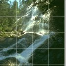 Waterfalls Picture Tiles Mural Wall Bedroom Mural Decor Design