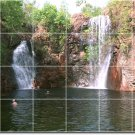 Waterfalls Photo Wall Tiles Backsplash Decorating Interior Ideas