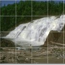 Waterfalls Picture Mural Living Floor Room Traditional Remodel
