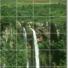 Waterfalls Picture Tiles Mural Kitchen Remodeling Modern House