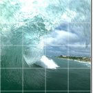 Waves Image Mural Dining Room Wall Wall Idea Renovation Interior